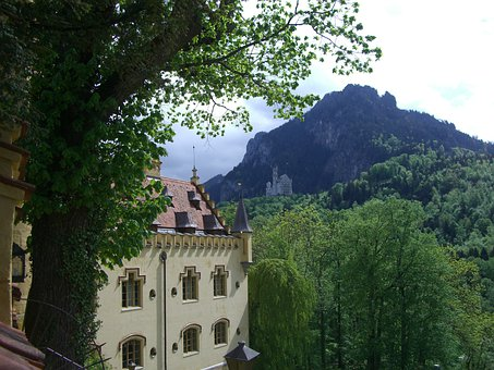 Hohenschwangau, Castle, Neuschwanstein Castle, Säuling