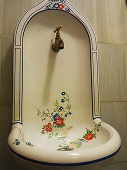 Washbasin, Ceramics, Sink, Water Tap, Design, Ornate
