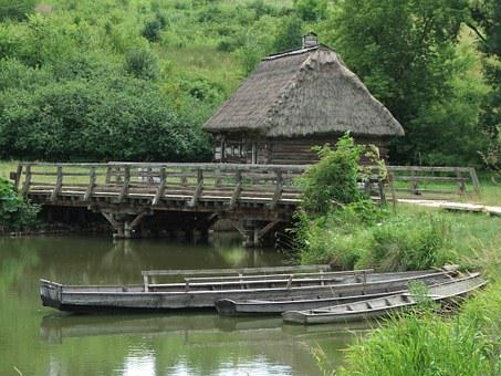Village, Open Air Museum, Poland, Straw