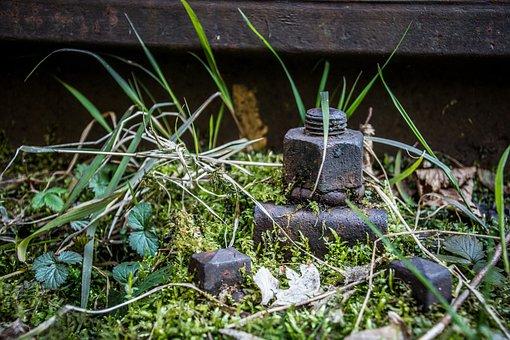 Seemed Screw, Iron, Train, Rail Traffic, Screw