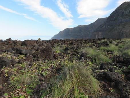 Rock, Volcanic, Lava, Flow, Basalt, Landscape, Black