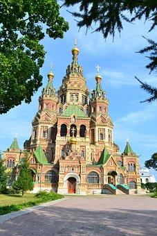 Russian Church, Church, Orthodox, Russia, Peterhof