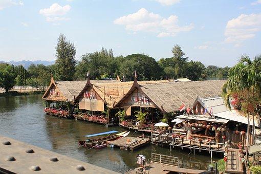 Thailand, Thai, Restaurant, Café, Floating Houses