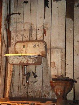 Grunge, Toilet, Sink, Water, Washing, Basin, Old