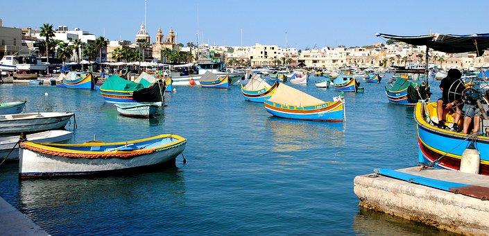 Sea, Holidays, Summer, Water, View, Boats, Malta