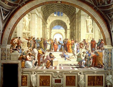 Fresco, Mural, School Of Athens, Raffaello Sanzio, 1511