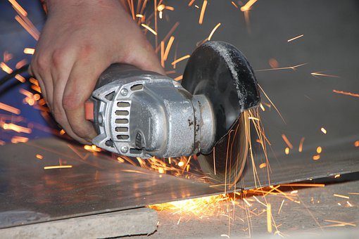 Angle, Cutting, Grinder, Iron, Metal, Sparks, Steel