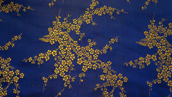 Texture, Background, Structure, Gold, Blue, Pattern