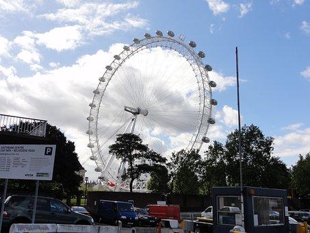 London Eye, Big Wheel, Ferris Wheel, Urban, City