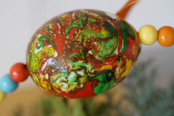 Egg, Easter Egg, Marbled, Easter, Colorful, Art