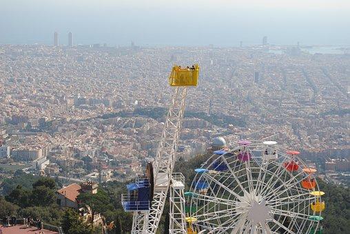 Barcelona, View Tibidabo, Spain, Tibidabo, Europe