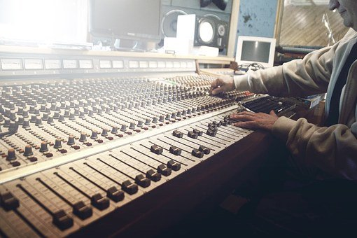 Sound Studio, Recording, Faders, Mixer, Music, Sound