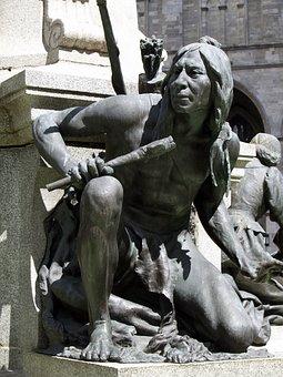 Monument, Statue, Stone, Figures, Native American