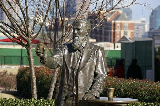 John Pemberton, Statue, Atlanta, Georgia, Sculpture