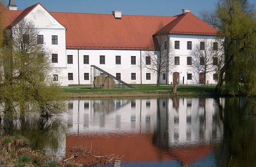 Monastery, Monastery Seeon, Water Reflection