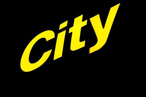 Neon Sign, Shield, City, Yellow, Light, Rays, Shine