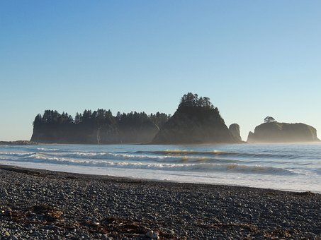 Sea Stacks, Washington, Rocks, Ocean, Sea, Beach
