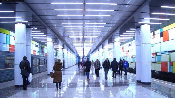 Metro, Rumyantsevo, People, City, Capital, Marble, Paul
