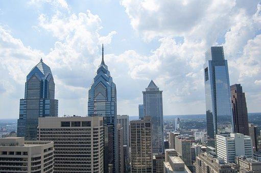 Philadelphia, Towers, City Skyline, City Building
