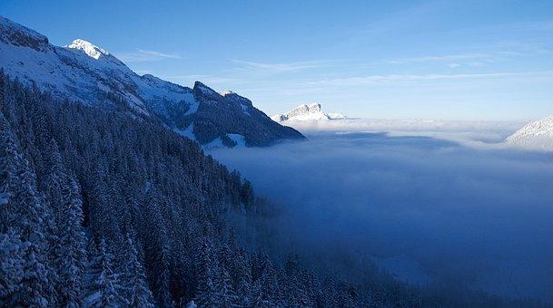 Sea Of Fog, Winter, Switzerland, Canton Of Uri