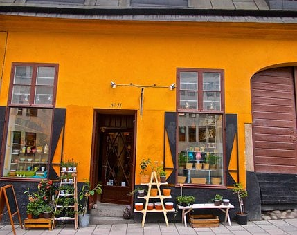 Facade, Old, Ceramics, Shop, City, Södermalm, Stockholm