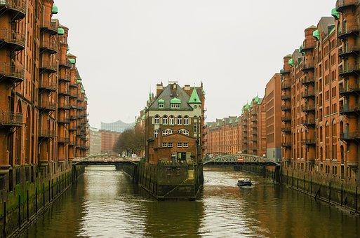 Hamburg, Speicherstadt, Old Speicherstadt, Brick