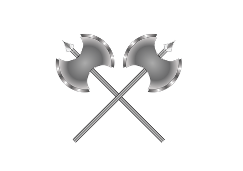 Axes, Battle Axes, Double Ax, Weapons, Steel, Warrior