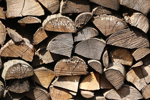 Wood For The Fireplace, Holzschaite, Wood, Heat