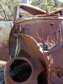 Wreck, Rusty, Weathered, Abandoned, Broken, Smashed