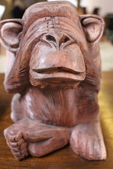Monkey, Sculpture, Carving, Art, Wood Carving, Animal