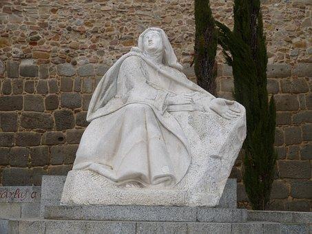 Monument, Statue, Avila, Spain, Castile, Holy, Catholic
