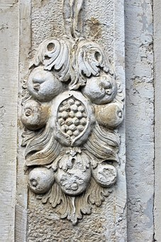 Stucco Relief, Stone, Historically, Old, Monument