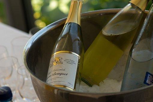 Champagne, Bottle, Bucket, Ice