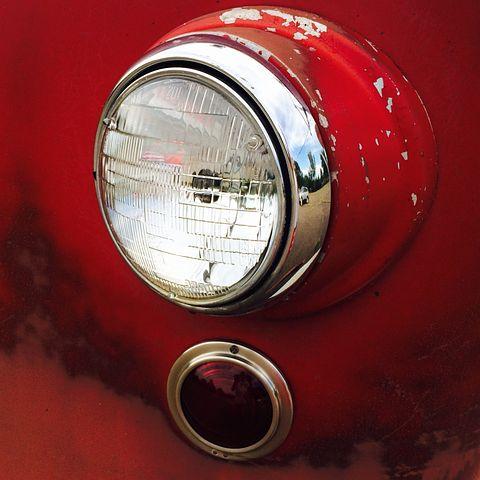 Headlights, Fire Truck, Light, Creative, Vehicle, Red