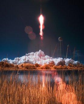 Virginia, Rocket, Travel, Blastoff, Liftoff, Lake