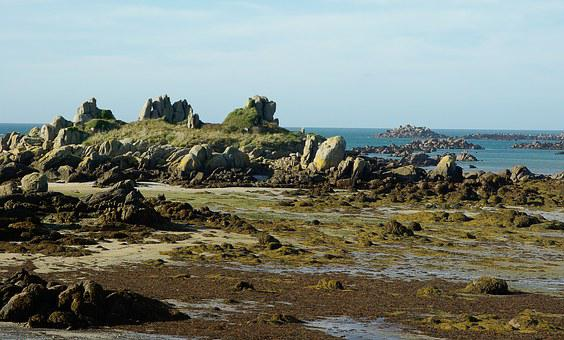 Normandy, Chausey Island, Granite, Rocks, Low Tide