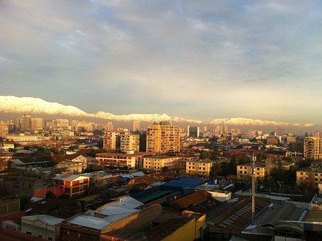 Santiago, Santiago De Chile, Sunset, City