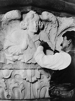 Sculptor, Sculpture, Artists, Stonemason, Kunstkandwerk