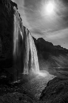 Seljalandsfoss, Waterfall, Iceland, Infrared