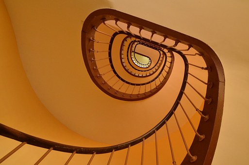 Architecture, Trap, Stairwell, Snail, Cochlea, Artistic