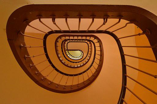 Architecture, Trap, Stairwell, Snail, Cochlea, Building