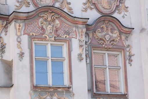 Rococo, Facade, Style, European Art, Stucco, Painting