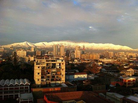 Santiago, City, Santiago De Chile, Sunset