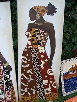 Africa, Image, Art, Drawing, Woman, Africal, Pattern