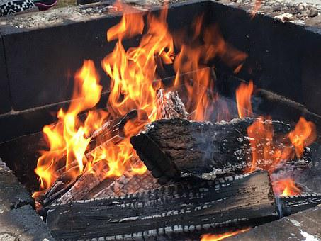 Wood Fire, Fire Pit, Flame, Burning, Campfire, Logs