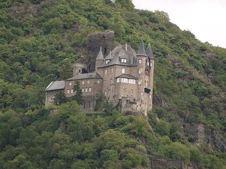 Castle, Germany, Landscape, Ages, Europe, Rio Rhin