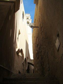 Alley, Jaffa, City, Steps, Upward, Urban, Houses