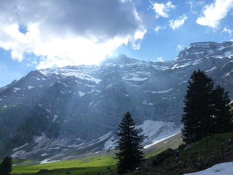 Alpstein, Mountain, Switzerland, Appenzell, Mountains