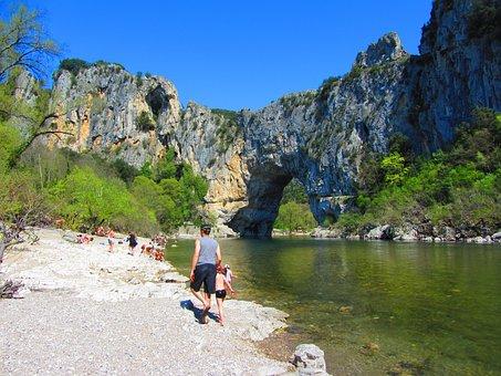 Ardèche, River, Landscape, Calm, Ardeche Gorge