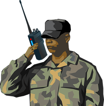 Soldier, Man, War, Black, Army, Communication, Message
